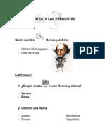 Contesta Las Preguntas Romeo y Julieta (Material adaptado)
