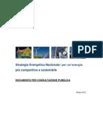 110921700 Strategia Energetica Nazionale