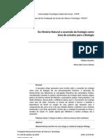 Artigo - Da Historia Natural a ascens+úo da Ecologia como +írea de estudos para a Biologia