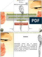 Demodex-Associated Bacterial Proteins Induce Neutrophil