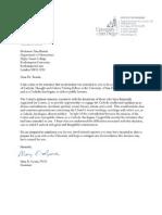 Letter From President of UCD
