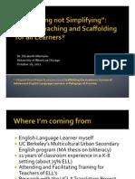 Montaño Scaffolding Workshop 10-26-12