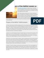 Let the Prayers of the Faithful Remain So