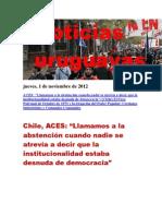 Noticias Uruguayas Jueves 1 de Noviembre Del 2012