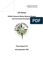 GVI Kenya Expedition 073 Report Final