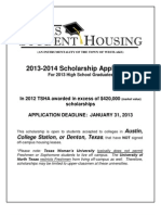 Texas Student Housing Scholarship