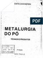 Metalurgia do Pó 3ª Edição - Vicente Chiaverini
