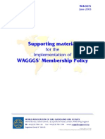Supporting material for the Implementation of WAGGGS' Membership Policy