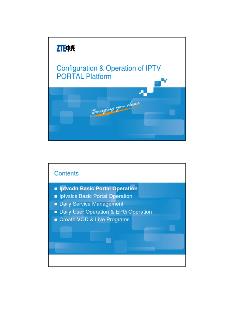 9 1IPTV-BC-CH-IPTV Configuration & Operation of IPTV PORTAL