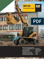 Catalogo Excavadora Hidraulica Ruedas m313d Caterpillar
