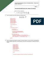 EXERCÍCIOS - ESTRUTURA DE REPETIÇÃO (FOR e WHILE E DO-WHILE)