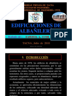 TRABAJO EDIFICACIONES DE ALBAÑILERIA