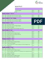 2012 World Congress Training List Ver.2.1