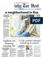 The Daily Tar Heel for November 2, 2012