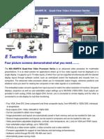 MX-1004PF&K Quad-View Video Processor Catalog