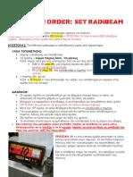 Mission Order Set Radiobeam