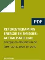 PBL 2012 Referentieraming Energie en Emissies 2012 500278001