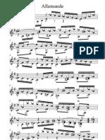 Johann Sebastian Bach Allemande E Minor BWV 996