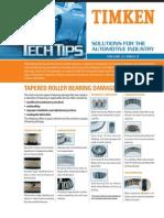 $TIMKENTapered Roller Bearing Damage Analysis
