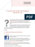 10 Social Networks Your Business Should Be On