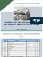 INTRODUCCIÓN A LA METODOLOGIA  PARA EVALUACION DE PUESTOS DE TRABAJO