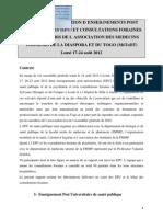 Rapport EPU Santé publique et Consultations Psychiatrique