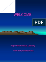 High Performance Delivery From Hr Professionals