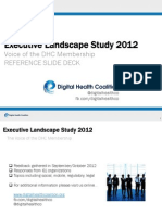 Digital Health Coalition Executive Landscape 2012 Reference Deck