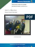 Informe Misionero a Agosto 2012 - Distrito 14 - Sogamoso