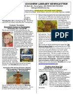 November 2012 Goodwin Library Newsletter- Edited