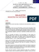 Balaústre - Registro Histórico da Loja