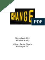 Bulletin, November 4, 2012