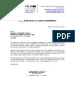 Modelo Carta Renuncia Exoneracion Preaviso Laboraperu