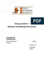Design Problem of Dbms