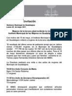 09-05-2011 Mujeres de la tercera edad recibirán la visita del  Instituto Municipal de las Mujeres en Guadalajara (IMMG)