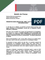 """19-05-2011 Presentan nueva edición del libro """"LAS CALLES HISTÓRICAS DE GUADALAJARA"""""""