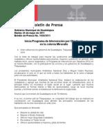 24-05-2011 Inicia Programa de Intervención por Objetivos en la colonia Miravalle