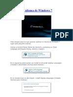 Cambiar El Idioma de Windows 7
