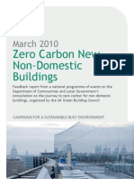 Zero Carbon New Non-Domestic Buildings Consultation Report