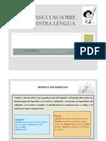 Consultas  sobre  ortografía