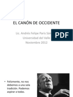 EL CANÓN DE OCCIDENTE