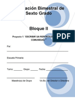6to Grado Bloque2 Proyecto1