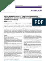 Cardiovascular Safety of Central Nervous System
