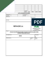 Especificación técnica de Estructuras Metálicas