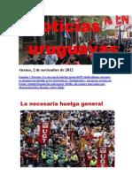 Noticias Uruguayas Viernes 2 de Noviembre Del 2012