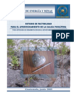 6. Factibilidad Chiquimula Caliza Fosilifera 2003