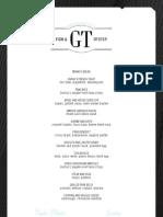 GT Fish & Oyster Brunch Menus