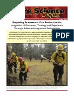 Preparing Tomorrow's Fire Professionals