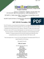 KIT November, 2000, Vol XII #11 New 12-1-00