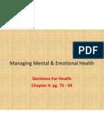 managing mental  emotional health
